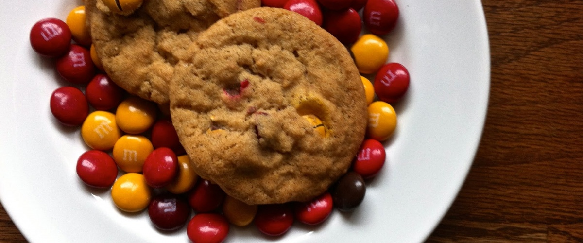 Spiced M and M Brown Sugar Cookies