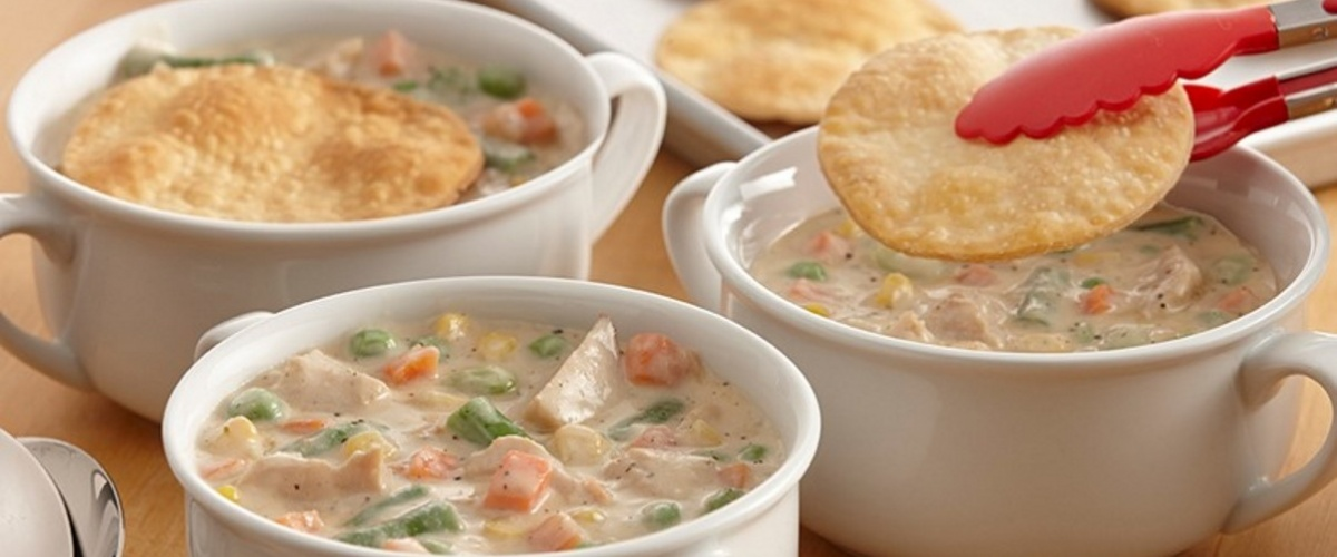 Sage and Turkey Pot Pie Soup