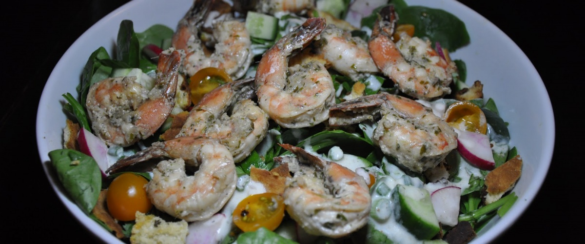 Tandoori Shrimp Salad