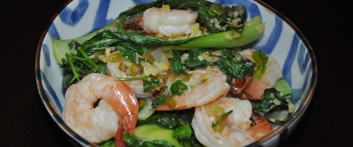 Shrimp with Asian Greens