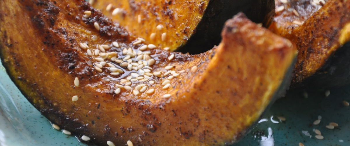 Squash Half-Moons with Butter, Sesame and Salt