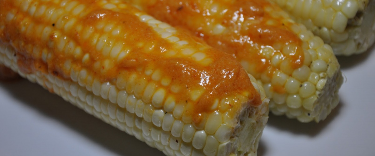 Roast Corn with Spicy Miso Butter