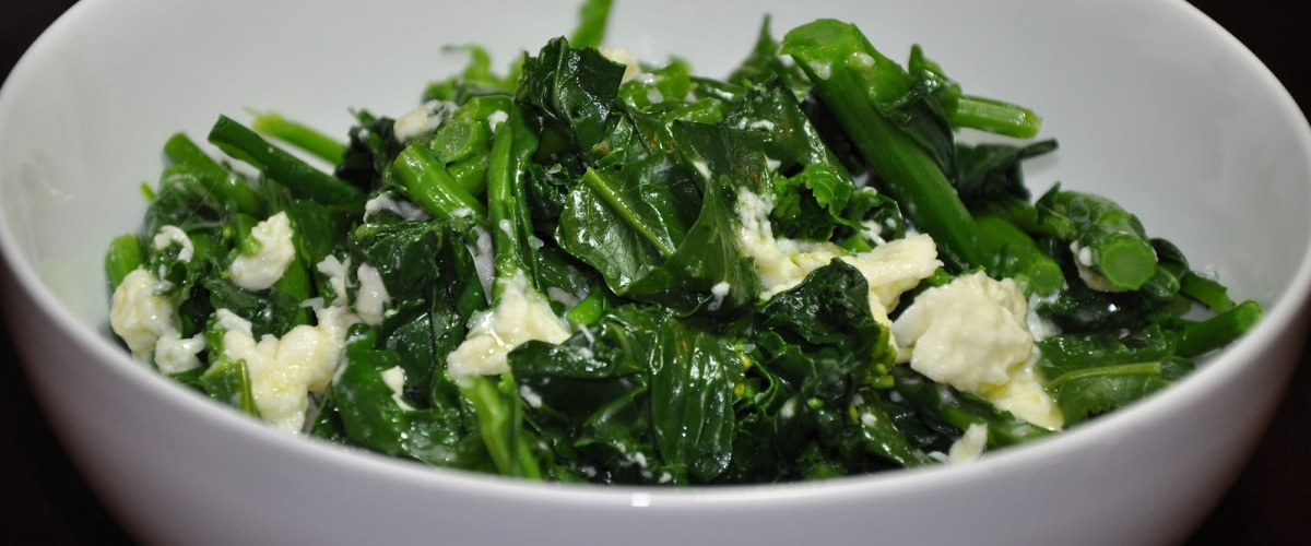 Broccoli Rabe with Mozzarella Crema
