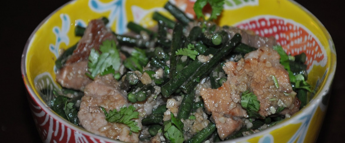Quick Khmer Pork with Green Beans