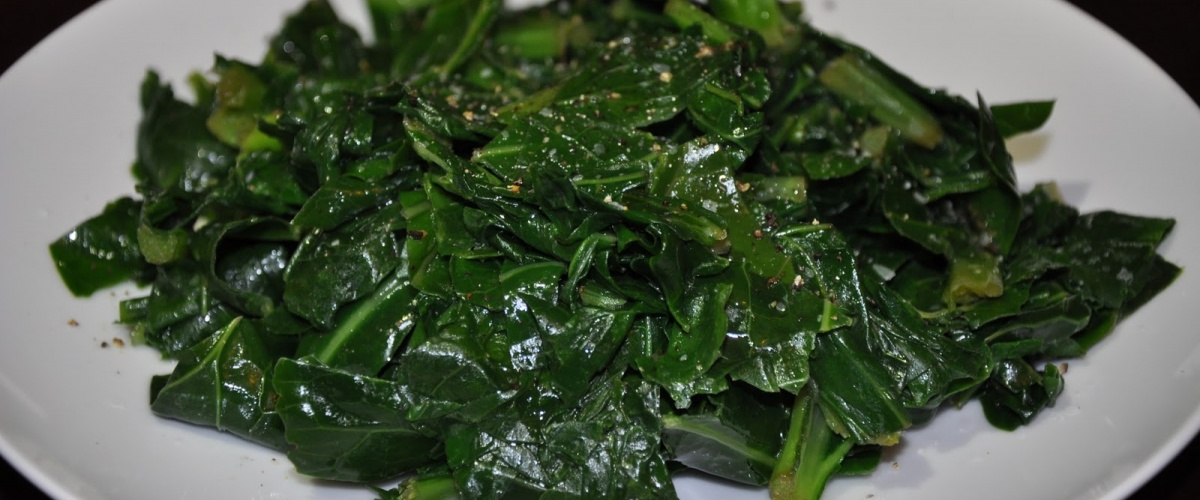 Butter-Blanched Southern Greens