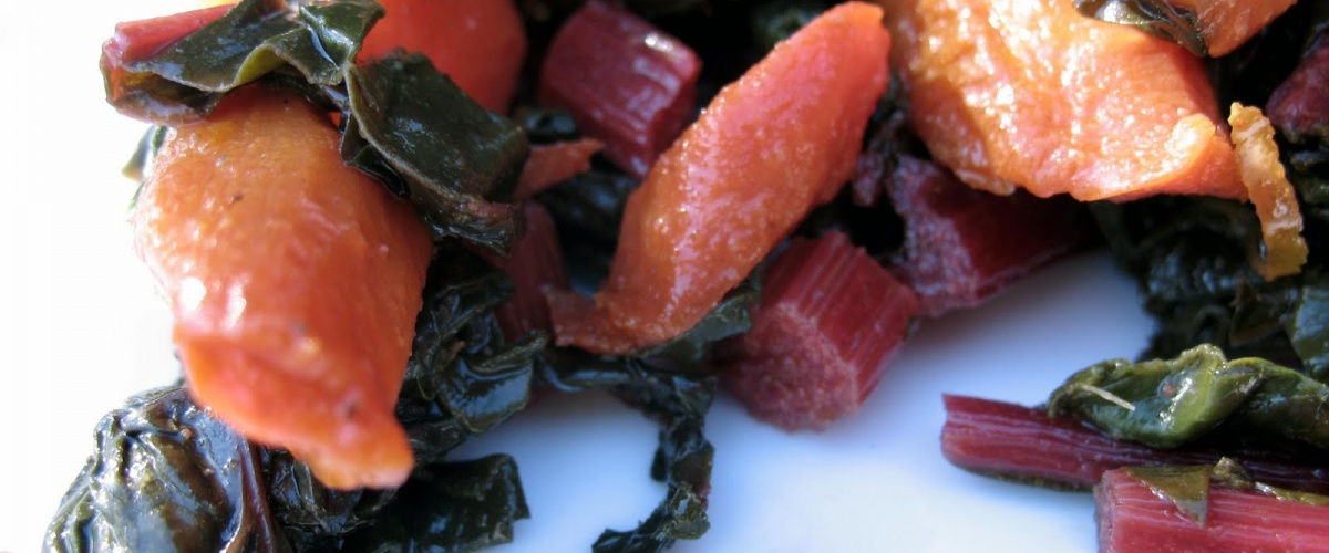 Moroccan Carrot and Chard Salad