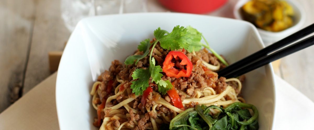 Spicy Asian Ground Veal Noodles