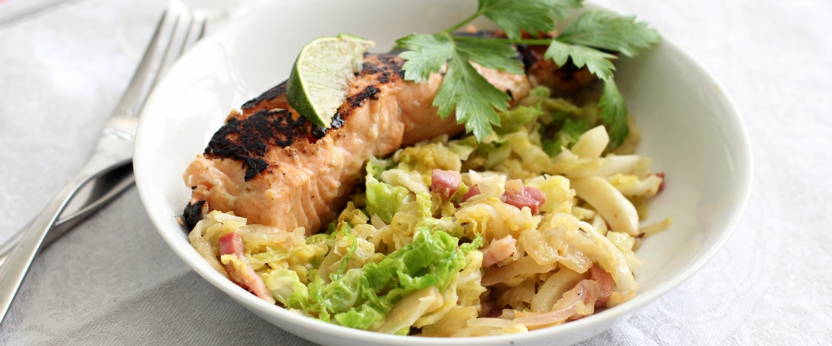 Salmon, Cabbage and Fennel