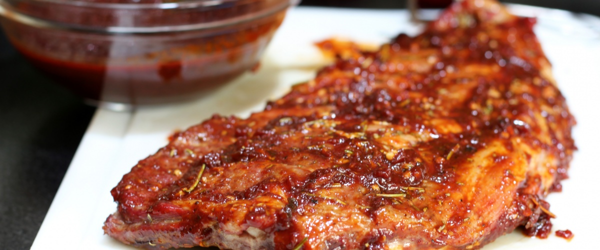 Oven Roasted Ribs with Kitchen BBQ Sauce