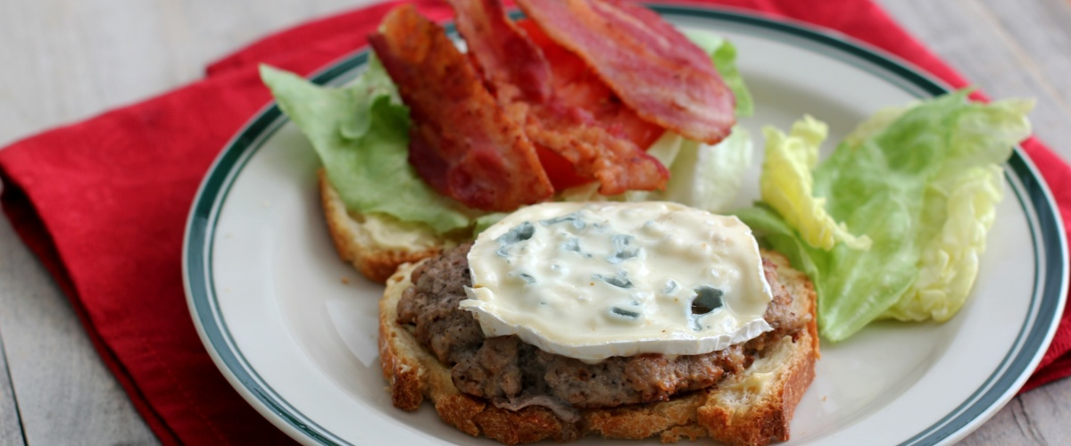 Bacon, Blue Cheese and Veal Burgers